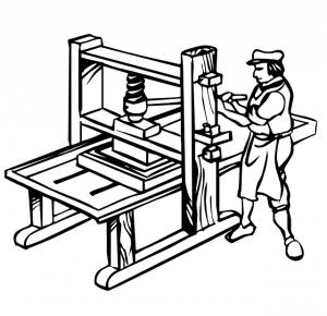 Old Manual Printing Press