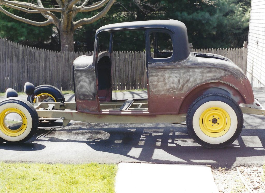 1932 Ford Coupe before restoration