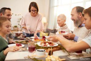 Family sit-down dinner