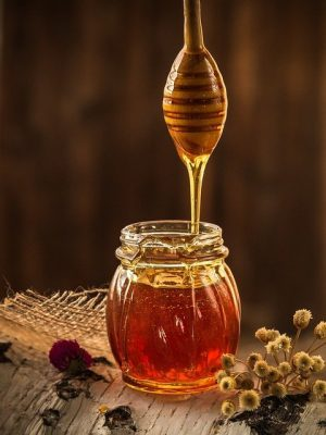 Honey from the bees