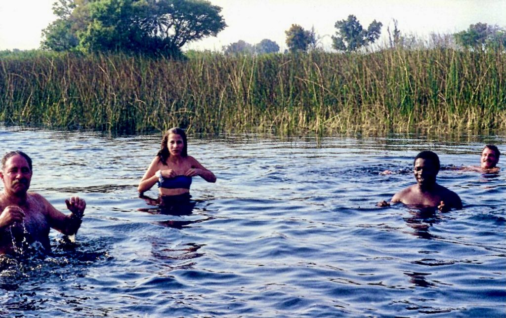 Swimming in the Okavango Delta